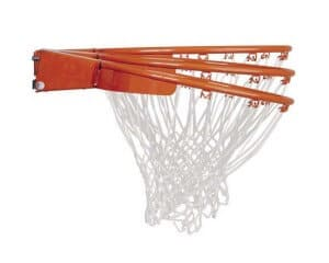 Many modern rims offer springs to absorb force from dunks.