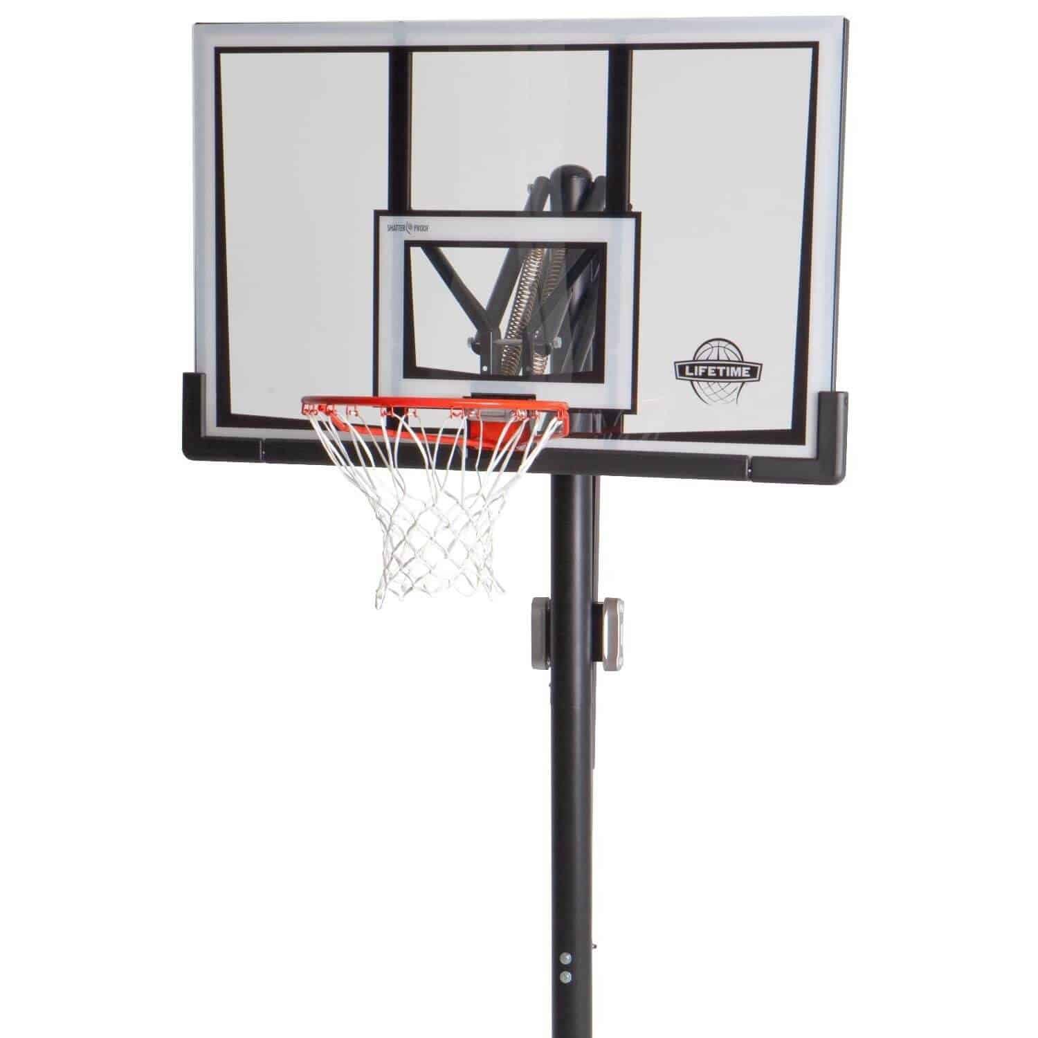 Lifetime 52 Inch Shatter Proof Backboard In Ground Basketball System