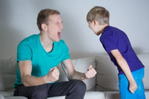 35447844 - image of young dad yelling at his son